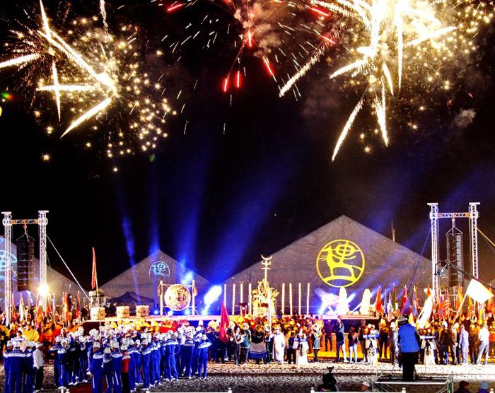 Маппинг на церемонии открытия Первых Всемирных игр кочевников, LC.UA