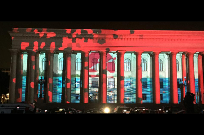 3D маппинг в Баку, Азербайджан, LC.UA