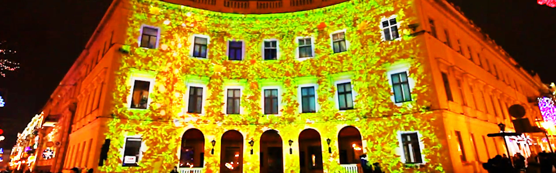 Новогоднее 3D шоу на фасаде театра оперы и балета в Киеве и Приморском бульваре в Одессе